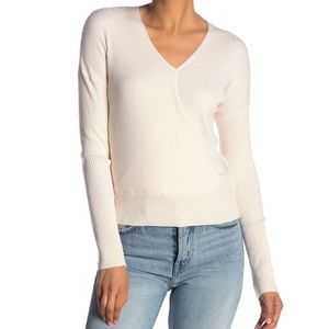 Elodie Ribbed Wrap Sweater NWT